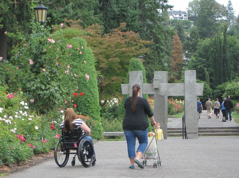 SUBMITTED: PORTLAND PARKS & RECREATION - People with strollers, wheelchairs and walkers will soon gain more access to the Rose Garden this summer.