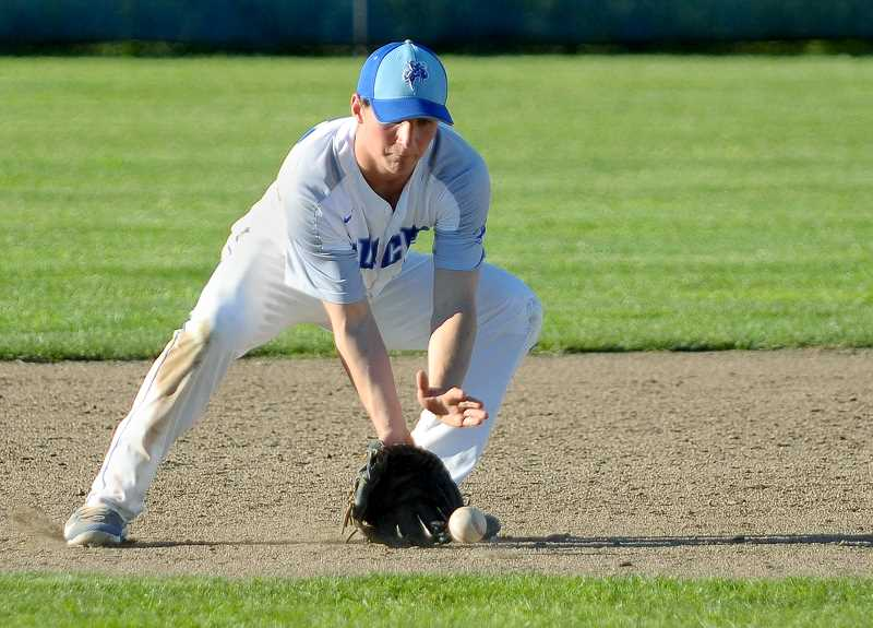 GRAPHIC FILE PHOTO - St. Paul sophomore Justin Herberger was named Tri-River Conference Pitcher of the Year and First-Team All-State as an outfielder after leading the Bucks to within a game of the playoffs this season.