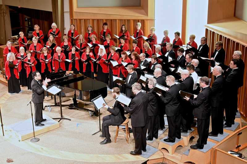 COURTESY PHOTO - The Oregon Chorale under the direction of Jason Sabino performs June 10 and 11 at Beavertons Bethel Congregational Church.