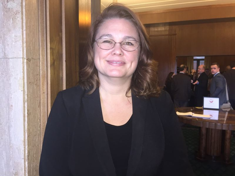 PARIS ACHEN/CAPITAL BUREAU - Sen. Sara Gelser, D-Corvallis, chairwoman of the Senate Committee on Human Services, at the Oregon Capitol in Salem. The committee on Wednesday, May 31, 2017, sent a tenant protections bill to the Senate floor.