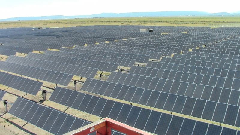 COURTESY PACIFIC POWER - This Lakeview, Oregon, solar array was completed in 2012 for Pacific Power, based in Portland.