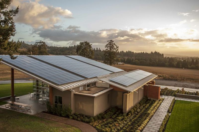 COURTESY SOLAR OREGON  - This is one of dozens of Oregon wineries that have added solar power to fuel their operations.