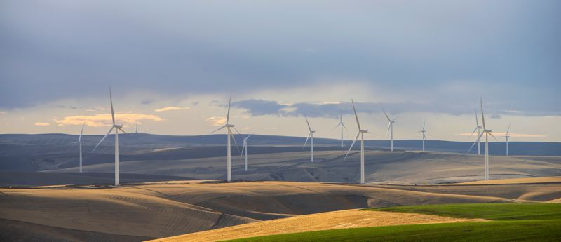 COURTESY PGE - Portland General Electric's Tucannon River Wind Farm supplies renewable electricity in the Portland area.