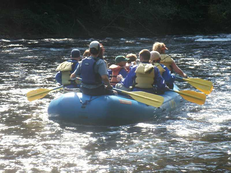 SUBMITTED PHOTO  - A rafting trip down the North Santiam River could be just what your father would like to do on Father's Day.