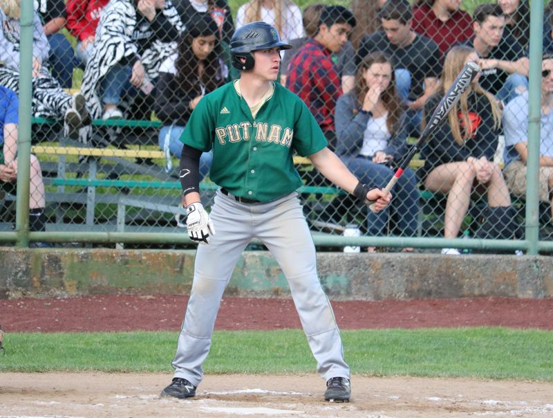 REVIEW/NEWS PHOTO: JIM BESEDA - Putnam's Sam Booth batted .415 with six doubles, four homers and 18 RBIs in 17 league games.
