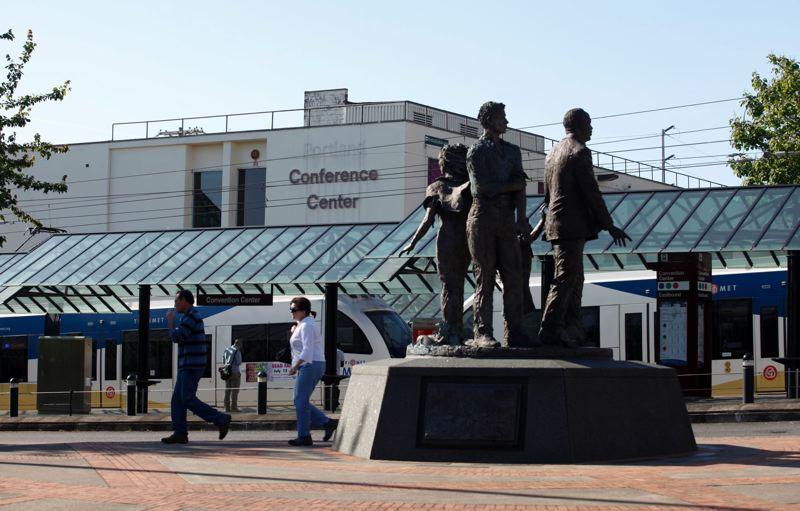 PAMPLIN MEDIA GROUP: FILE PHOTO - The Oregon Convention Centers outdoor plaza is slated for renovation to enhance the entryway.