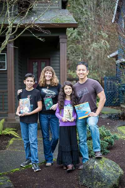 NATE RAUSCHERT/NR PHOTOGRAPHY - Authors Damien, Tonya, Helena and Raymond Macalino of Hillsboro will lead of workshop on how to publish a book during the free Family Day at the Washington County Museum on June 10.