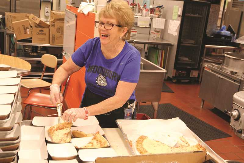 INDEPENDENT FILE PHOTO - Rita Foltz is retiring from nutrition services at Woodburn High School this year.