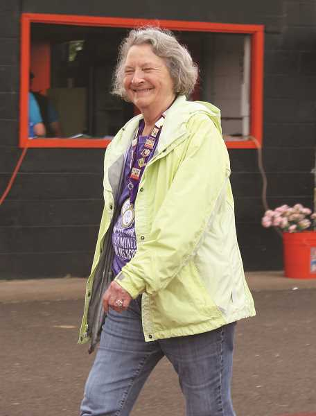 PEGGY SAVAGE - A friendly smile from a Relay for Live veteran
