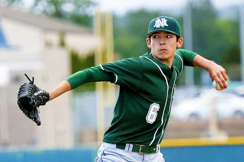 JO WHEAT - North Marion sophomore Griffin Henry was named Co-Pitcher of the Year in the Oregon West Conference this year.