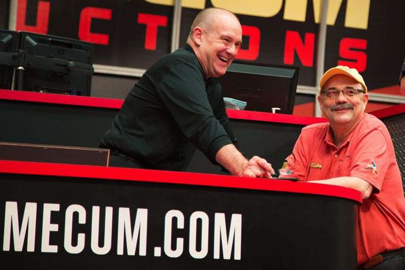 COURTESY MECUM AUCTIONS - Mecum Auctions CEO Dave Magers  (left) with company founder Dana Mecum.