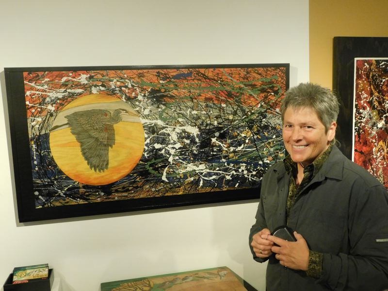ESTACADA NEWS PHOTO: EMILY LINDSTRAND - Carol Pulvermacher says she hopes her show at the Spiral Gallery, 'Eye of the Beholder' allows viewers to take away their own meaning from its pieces.