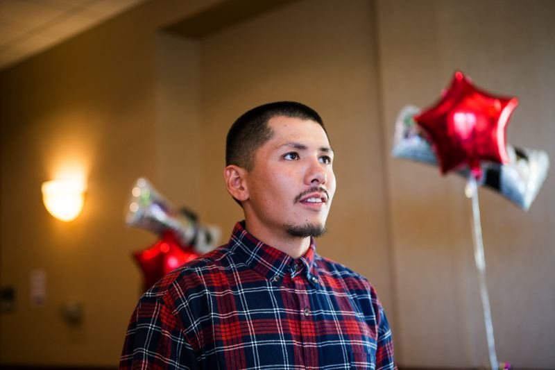 PAMPLIN MEDIA GROUP: ADAM WICKHAM  - Laborer Graduate of the Year Jonathan Anaya credits the school with encouraging employers give him more opportunity and better pay.