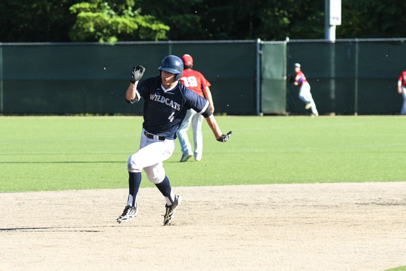 SUBMITTED PHOTO: GREG ARTMAN - Wilsonville senior Kristjen Mertes runs the base paths at Wilsonville High during the Wildcats victory over Lebanon in the state quarterfinals Friday, May 26.