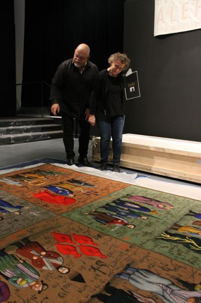 GRISHA BRUSKIN/OJMCHE  - The inagural exhibition, 'The ALEFBET,' features large wool and silk tapestries by Russian-Jewish artist Grisha Bruskin.