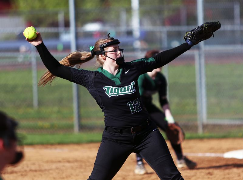 DAN BROOD - Tigard junior Ashley Davis was named the Three Rivers League Pitcher of the Year.