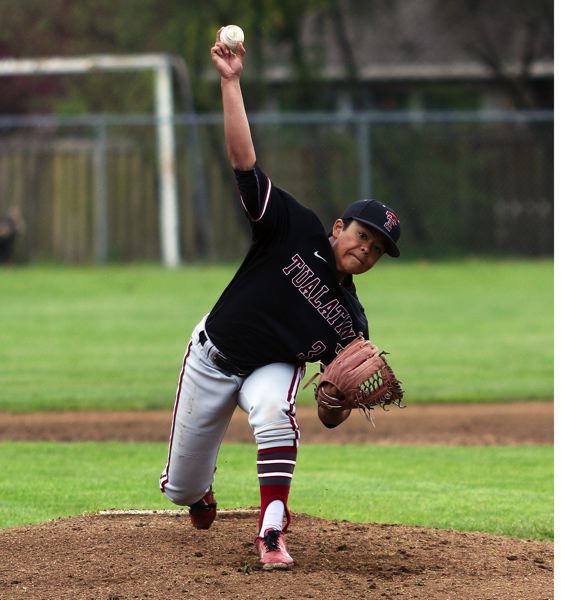 DAN BROOD - Tualatin senior Elijah Diggins was named a first-team All-Three Rivers League selection as a pitcher.