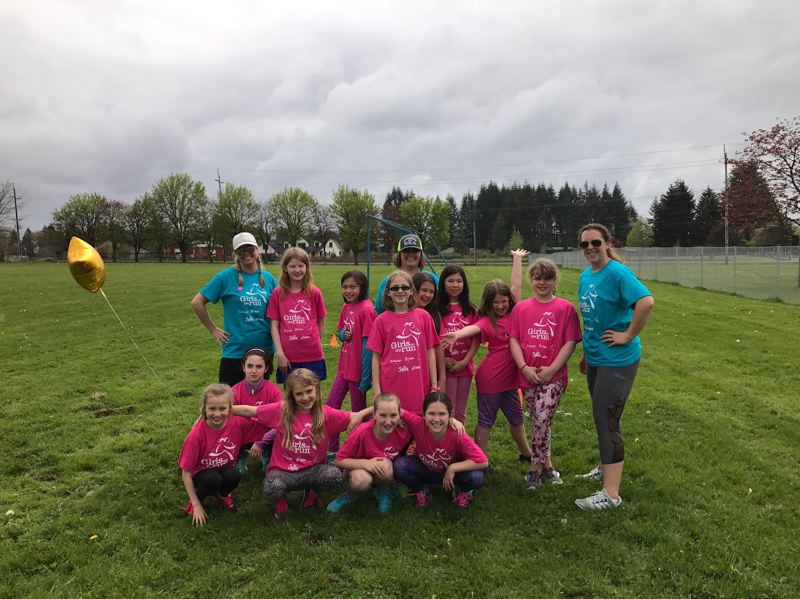 CONTRIBUTED PHOTO - Twelve girls participated in Girls on the Run at Oregon Trail Academy.
