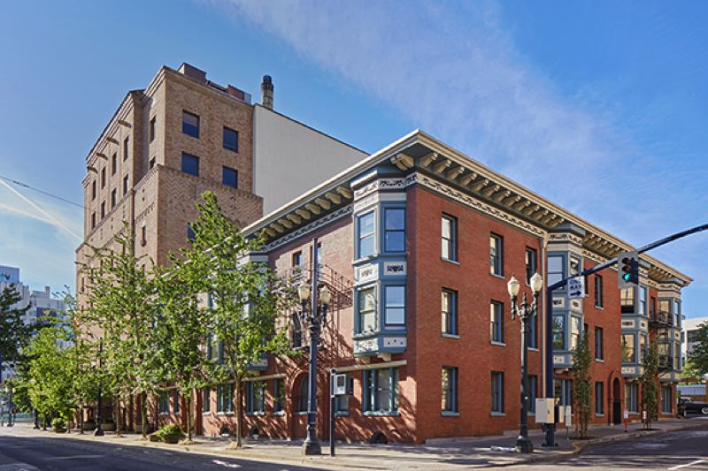 COURTESY: WIKIMEDIA/M.O. STEVENS - The Bronaugh Apartments, already on the National Register of Historic Places, recently won the Charles L. Edson Tax Credit Excellence Award in the HUD Preservation Category.