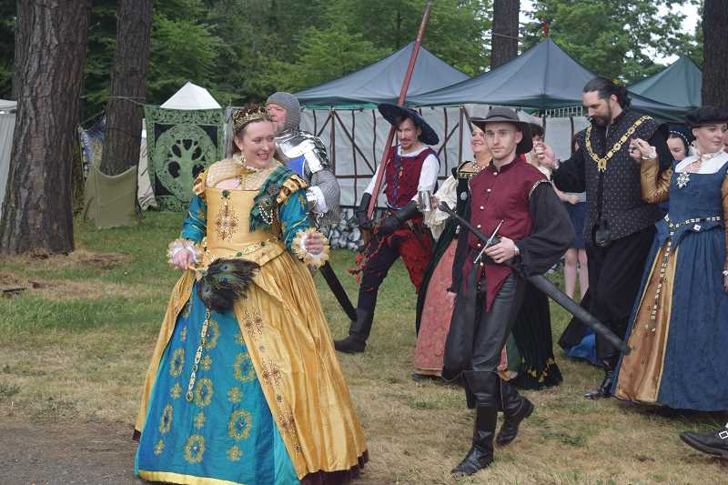 SUBMITTED PHOTO - Visitors can enjoy spectacular costumes and pagentry at the Oregon Renaissance Faire.