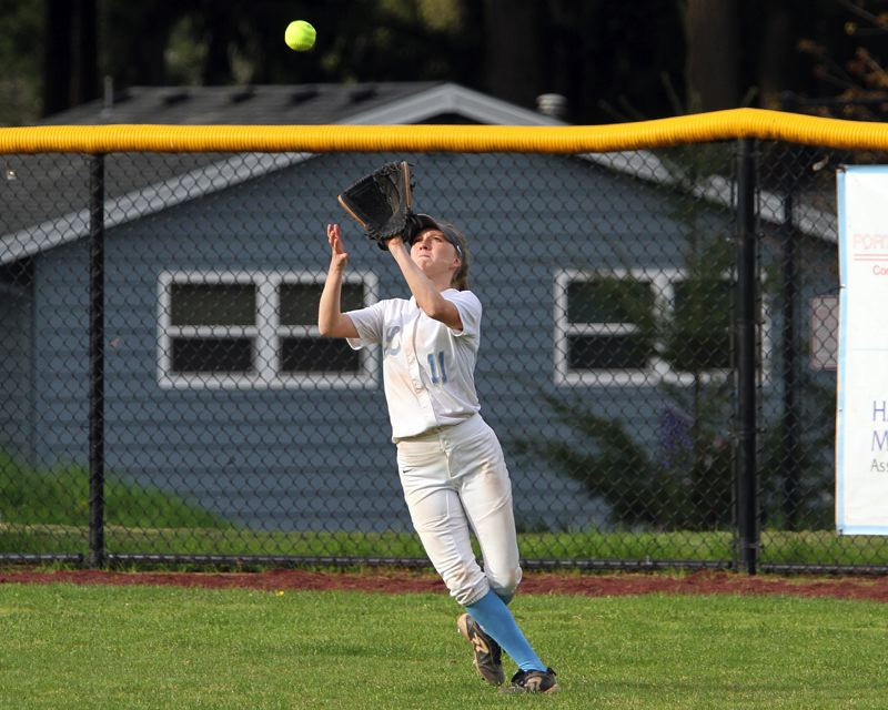 REVIEW FILE PHOTO - Lakeridge senior outfielder Gracie Neville won a place on the all-Three Rivers League first team after batting .481 for the Pacers this season.