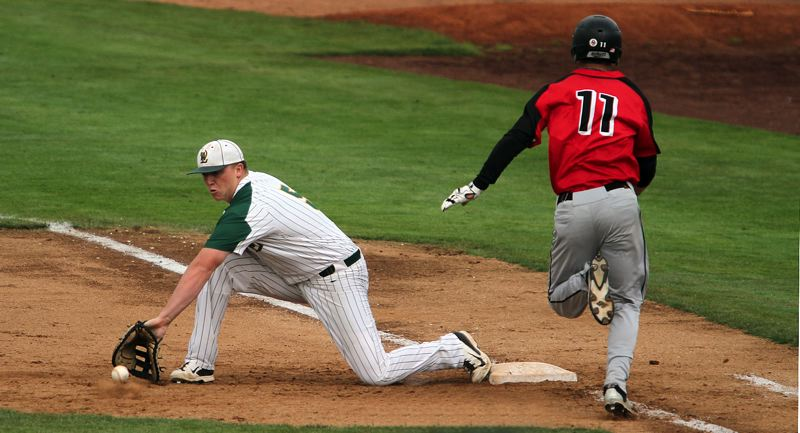 TIDINGS FILE PHOTO - West Linn senior first baseman Jake Porter shared Three Rivers League Player of the Year honors with teammate Tim Tawa after batting .400 with 33 RBIs and 29 runs scored.