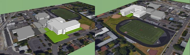 PHOTO COURTESY: NCSD - A three-story Milwaukie High School is planned at the location of the current MHS building.