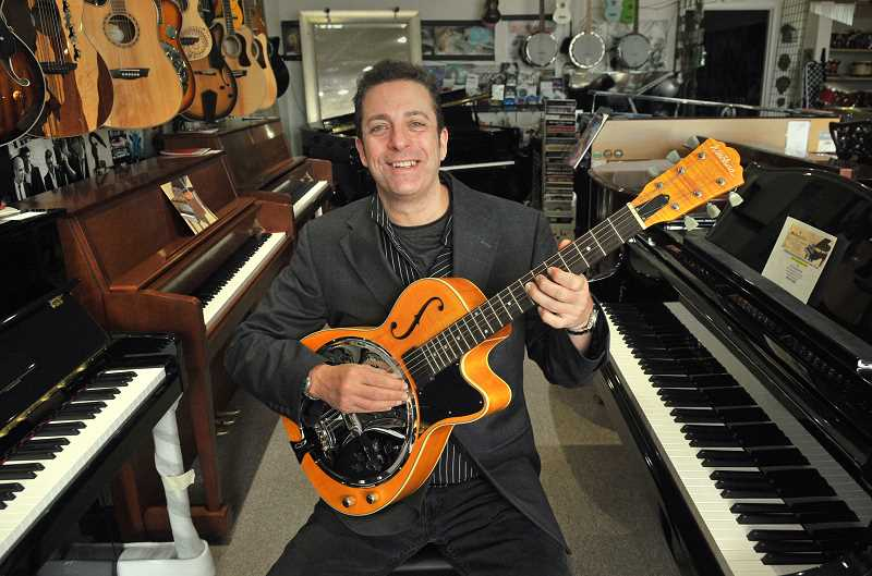 REVIEW PHOTO: VERN UYETAKE - Fun Instruments owner Steve Esagui says his stores instrument lineup is completely unique, because its determined entirely by what his Lake Oswego customers ask him to carry.