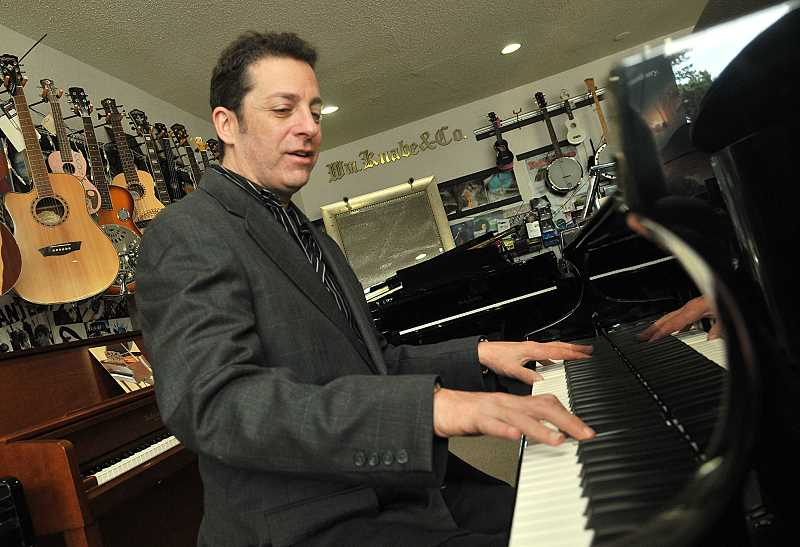 REVIEW PHOTO: VERN UYETAKE - Pianos are the latest intrument to join the Fun Instruments lineup, and a big leap forward for the store. Esagui says hes confident hell find eager musicians in Lake Oswego.