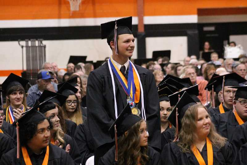 PIONEER PHOTO: CONNER WILLIAMS  - Scenes from Molalla High School's graduation on June 10, 2017.