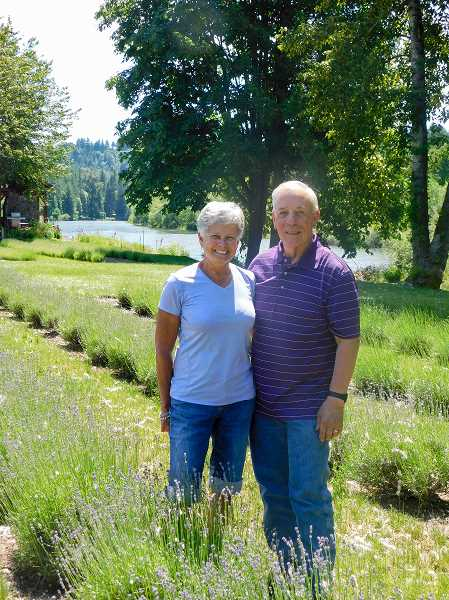 ESTACADA NEWS PHOTO: EMILY LINDSTRAND - Mary and Bill Jabs will host the Eagle Creek Lavender Festival on Saturday, June 24, and Sunday, June 25.