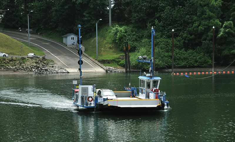 SPOKESMAN PHOTO: VERN UYETAKE - After some weather and maintenance setbacks, Canby Ferry operators expect a normal summer season.