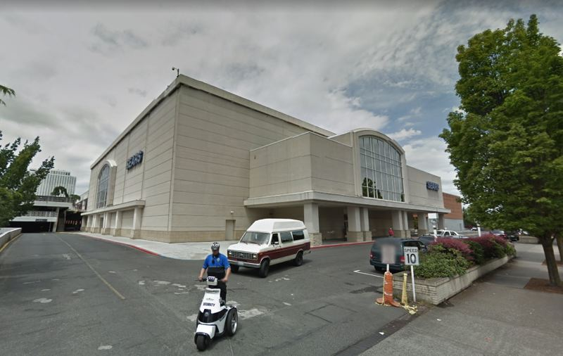 SOURCE: GOOGLE SATELLITE - The Sears building is at the eastern end of the Lloyd Center mall.