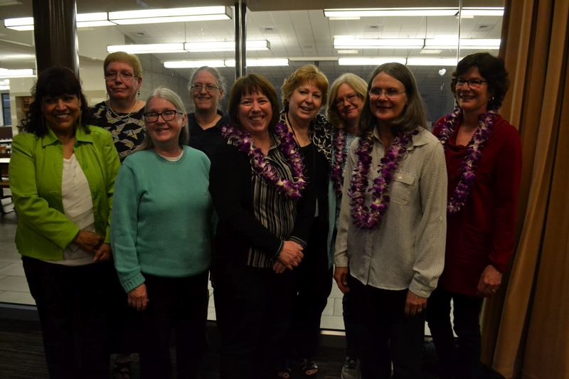 POST PHOTO: BRITTANY ALLEN - Nine retiring members of Oregon Trail School District faculty were recognized for their service at the Monday, June 12, meeting of the school board.