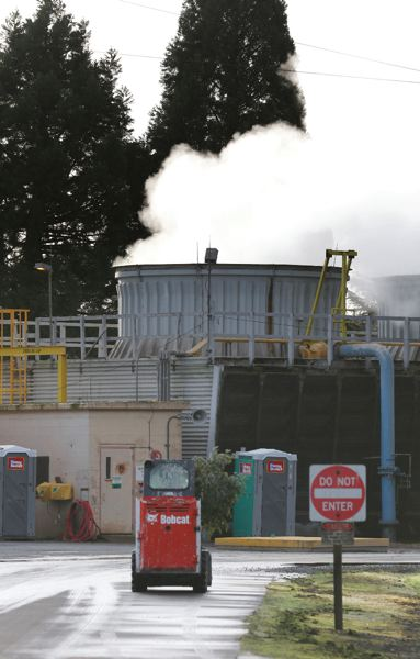 TRIBUNE PHOTO: JONATHAN HOUSE - Steam rises from a stack of the Covanta garbage incinerator in Brooks. The steam is harmless, but emissions not visible to the naked eye are more of a pollution concern.