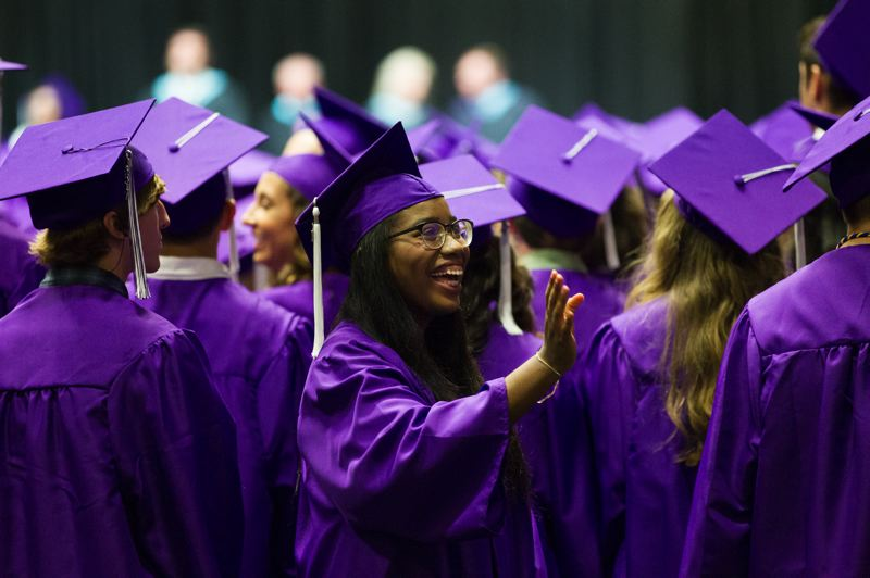 TIMES PHOTO: JAIME VALDEZ - Ricki Marshall, who just graduated from Sunset High School, doesn't need our advice. Neither do her peers. We do have some advice for others involved in the education system, though.