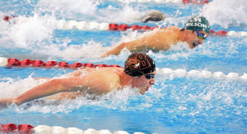 TIMES FILE PHOTO - Beaverton junior Van Mathias won two state championships this season and is one of the Oregon Sports Awards finalists for Male Prep Swimmer of the Year.
