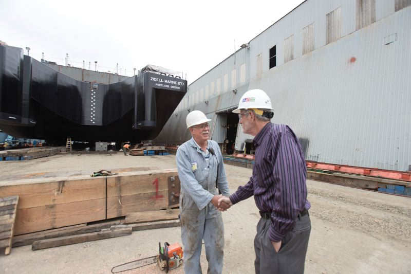 PAMPLIN MEDIA GROUP: JAIME VALDEZ - For Jay Zidell its the end of an era.  For many workers, like George Beal who has worked at Zidell for 42 years,it could be the end of a career, although they have been offered interviews at other ship builders, such as Greenbriar and Vigor.