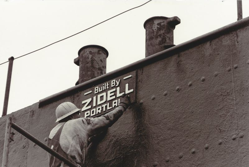 COURTESY: ZIDELL MARINE - Jay Zidell's father got into the barge building business by using steel from ships broken up in the yard, at a time when wooden barges were the norm. (Pictured: an anonymous worker.)