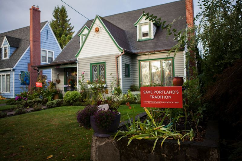PAMPLIN MEDIA GROUP FILE PHOTO - Peacock Lane residents were motivated by possible infill projects to seek status as a historic district.
