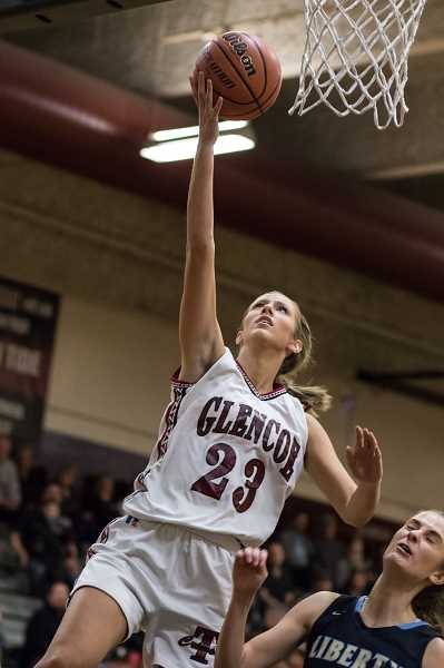 HILLSBORO TRIBUNE FILE PHOTO: CHASE ALLGOOD - Glencoe's Abby Anderson goes up for a lay-in during a game versus Liberty last season.
