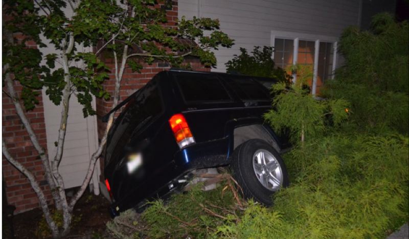 WASHINGTON COUNTY SHERIFF'S OFFICE - A car ran into a home in Cedar Mill early Sunday. No one was injured.