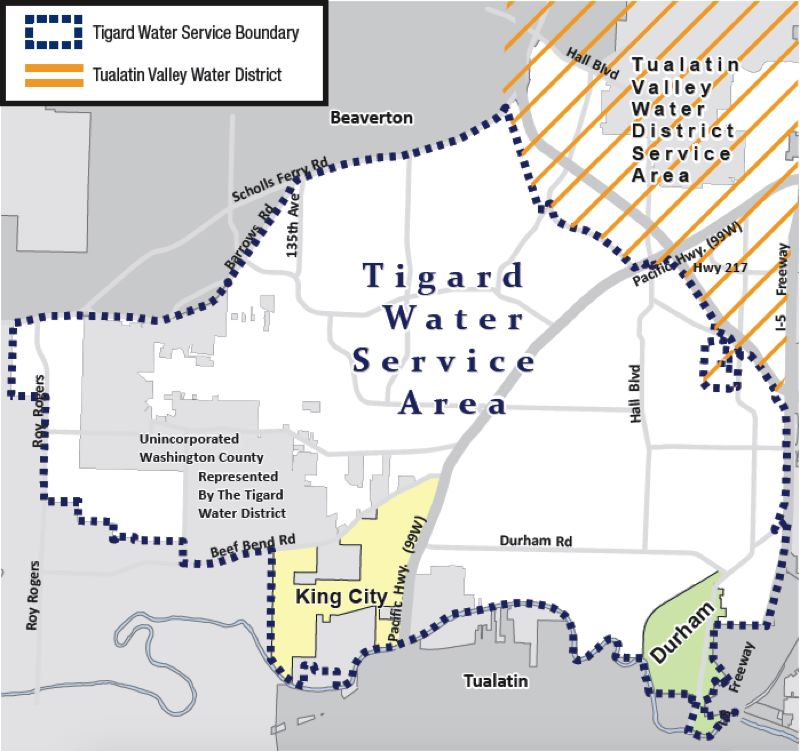 COURTESY OF THE CITY OF TIGARD - Most of Tigard, as well as some neighboring unincorporated areas and the smaller communities of Durham and King City, has been receiving its water supply through a partnership with Lake Oswego for just over a year.