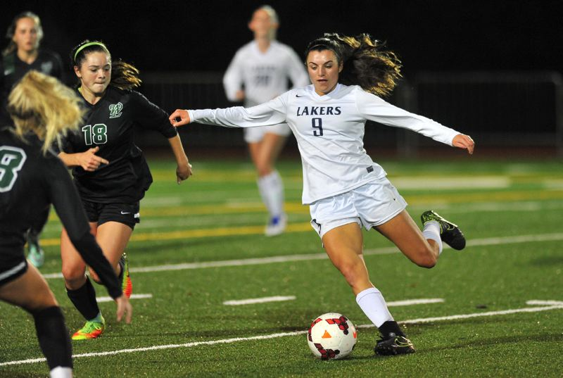 REVIEW PHOTO: VERN UYETAKE - Lake Oswego's Lauren Gilbert caused her fair share of trouble for opposing defenses on the soccer field in 2016, earning first-team all-Three Rivers League honors as a forward.