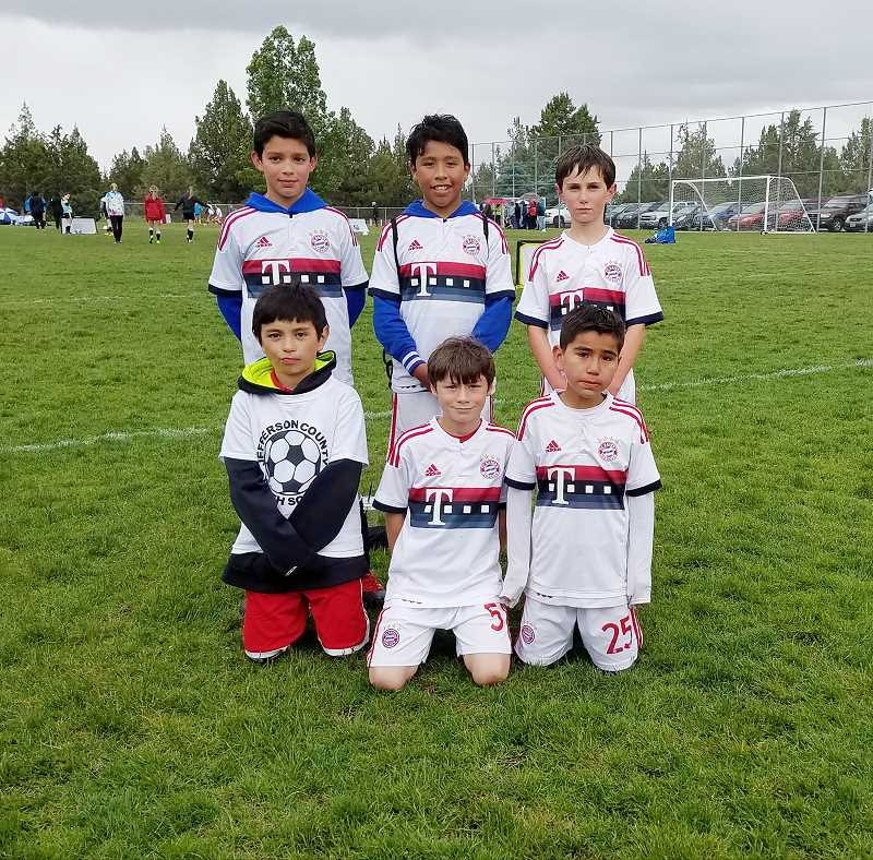 MARY BRAVO/FOR THE PIONEER - In the U-11 boys division, Bayern Madras finished second to Vashon Arsenal. Players pictured, from left to right, are (top row) Steve Gonzales, Eben Tapia, Eli Boyle, (bottom row) Jesus Gutierrez, Jacob Turo and Osvaldo Castañeda.