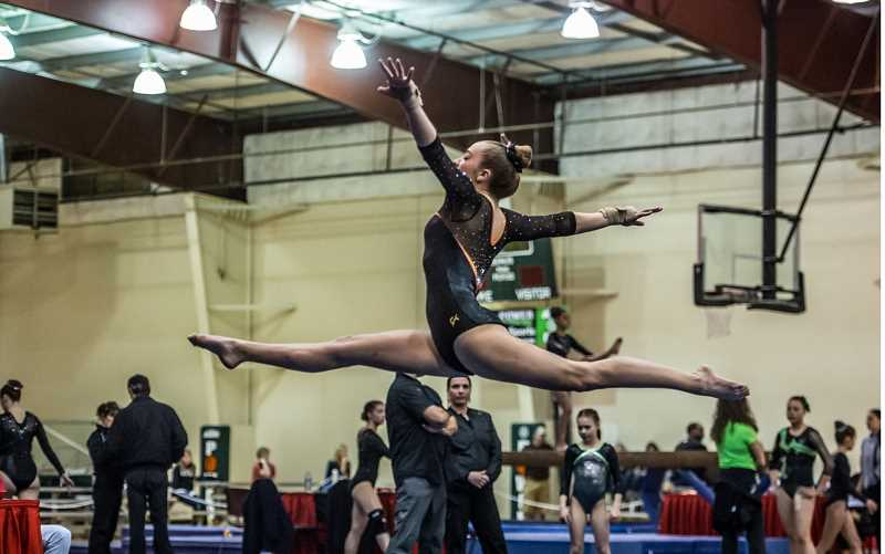 COURTESY OF RALPH GREENE, COACH GREENE PHOTOS  - Colton High School gymnast Madalyn Spitzer she earned her way to regional competitions while representing her school.