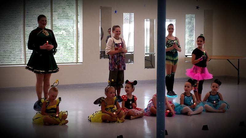 CONTRIBUTED PHOTO - Students from the Sandy School of Dance entertained visitors to the Estacada Community Center during a lunchtime event on Tuesday, June 13.