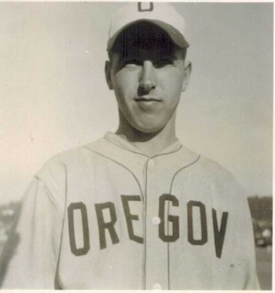 COURTESY OF BOB SANTEE - Bob Santee played baseball for the University of Oregon in 1943, 1946 and 1947.