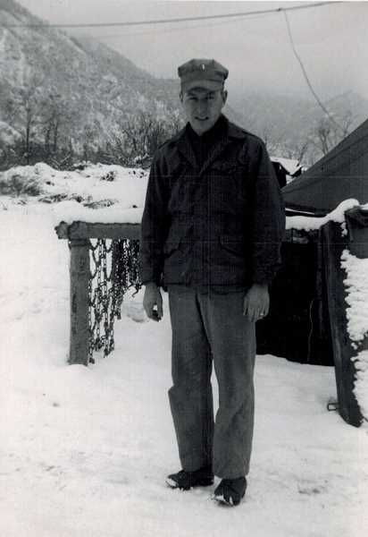 COURTESY OF BOB SANTEE - Bob Santee, shown here in Korea on Jan. 25, 1952, served there for almost a year.
