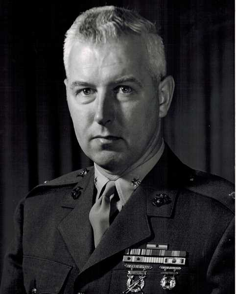 COURTESY OF BOB SANTEE - Bob Santee posed for an official Marine Corps photo in 1966.